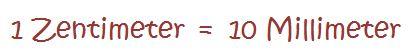 Laengeneinheiten - Millimeter in Zentimeter